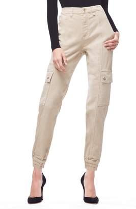 Good American High Rise Slim Cargo Pants