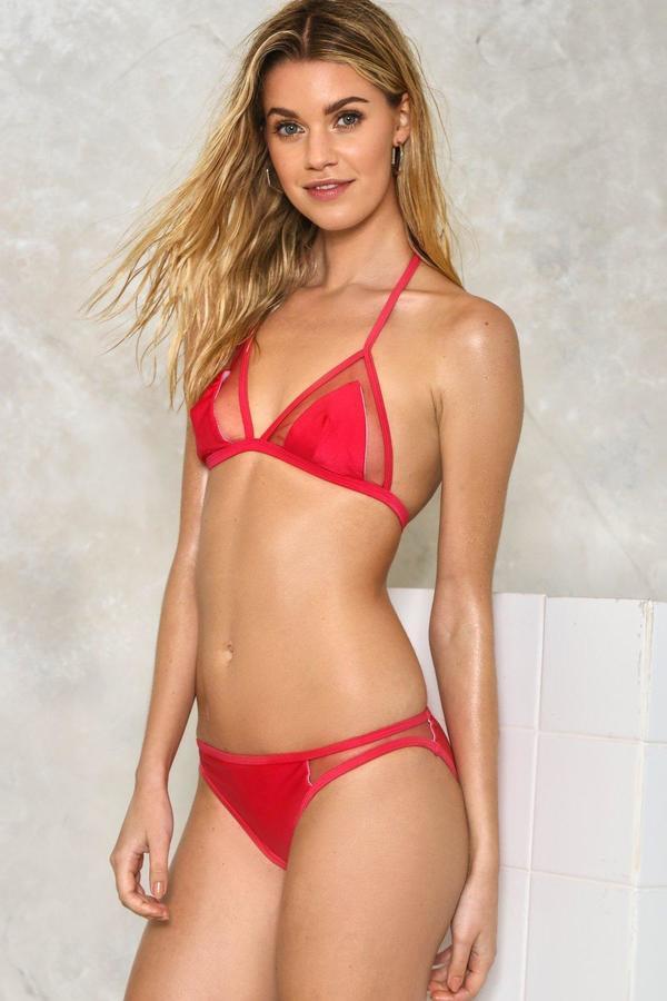 nastygal Match Maker Mesh Bikini Set