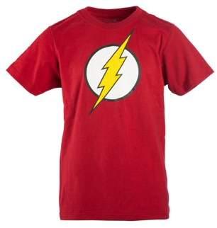Dc Comics Flash Boy's Red DC Comics Flash Logo with HD Ink Short Sleeve Tee