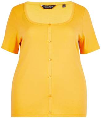 Dorothy Perkins Womens **Dp Curve Yellow Button Down T