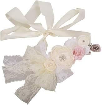 Angel Maternity Love my Angel Wedding Bridal Belt Maternity Flower Sash Rhinestone Satin Newborn Photography