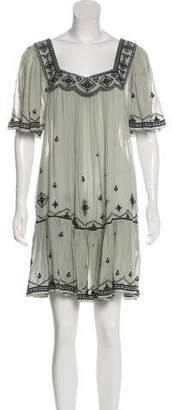 Temperley London Embroidered Knee-Length Dress
