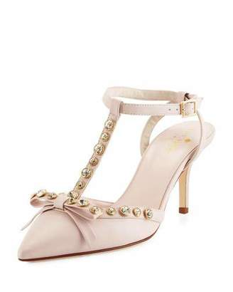 Kate Spade New York Julianna T-Strap Bow Pump, Petal Pink $398 thestylecure.com