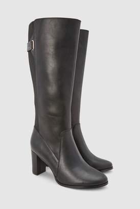Next Womens Black Block Heel Knee High Boots