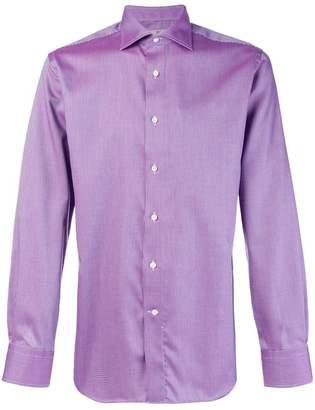 Canali micro patterned classic shirt