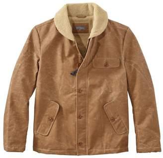 L.L. Bean L.L.Bean Men's Signature Sherpa-Lined Waxed Cotton Jacket, Slim Fit