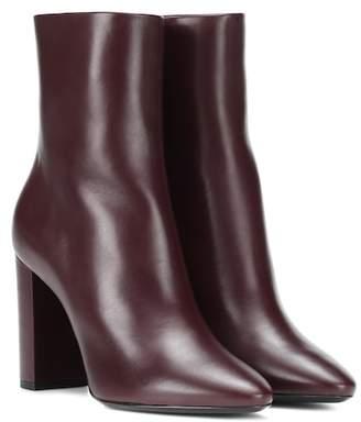 Saint Laurent Lou 95 leather ankle boots