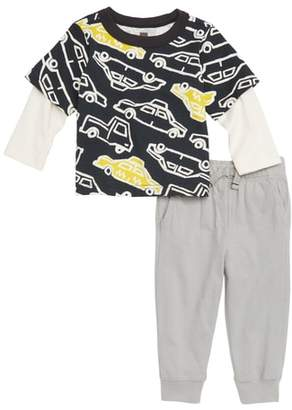 Tea Collection Rush Hour Layer T-Shirt & Pants Set