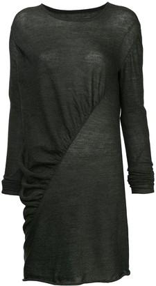 UMA WANG asymmetric longline top