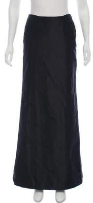 Carmen Marc Valvo Maxi Satin Skirt
