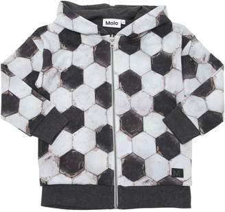 Molo Football Print Cotton Sweatshirt Hoodie