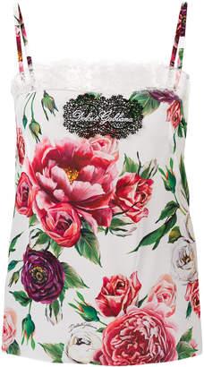 Dolce & Gabbana peony print camisole