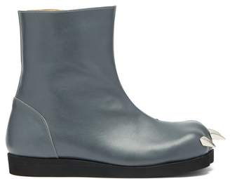 Charles Jeffrey Loverboy X Roker Lion Claw Leather Boots - Womens - Dark Grey