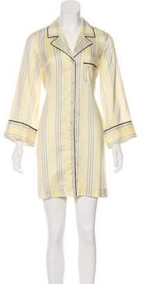 Ganni Silk Striped Nightgown