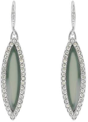 Adore Rhodium Plated Resin Inlay & Swarovski Crystal Accented Marquise Drop Earrings