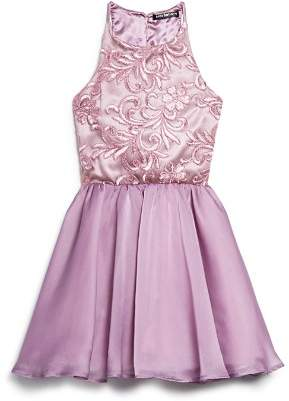 Josie Miss Behave Girls' Floral-Embroidered Dress - Big Kid