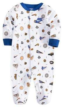 Nike Baby Boy's Printed Cotton Footies