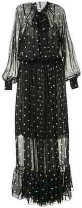 MSGM polka dot maxi dress