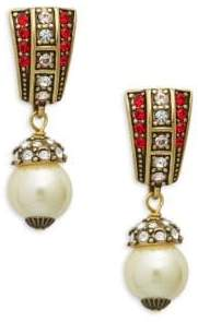 Heidi Daus Faux Pearl Drop Earrings