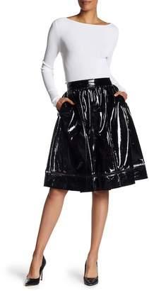 Alice + Olivia Misty Pantent Leather Skirt