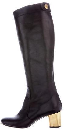 CelineCéline Leather Knee-High Boots