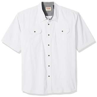 Wrangler Men's Big and Tall Short Sleeve Classic Twill Shirt