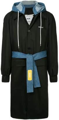 MSGM contrast rain coat