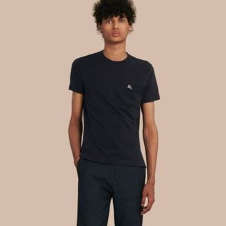 Burberry Slub Jersey Double Dyed T-shirt $195 thestylecure.com