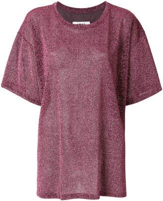 MM6 MAISON MARGIELA glitter-effect T-shirt