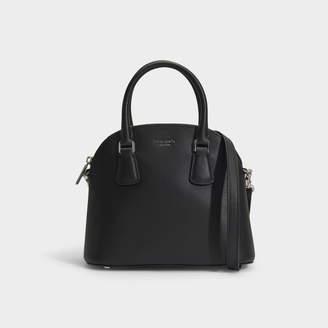 Kate Spade Sylvia Medium Dome Satchel In Black Leather