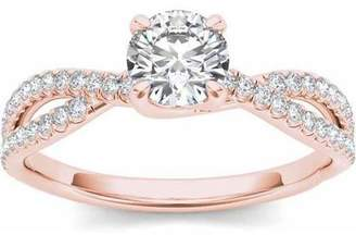 Imperial Diamond Imperial 1 Carat T.W. Diamond Split Shank Classic 14kt Rose Gold Engagement Ring