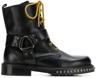 Pinko stud-embellished Commando boots