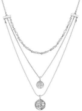 Lucky Brand Golden Hour Crystal Three-Layer Necklace