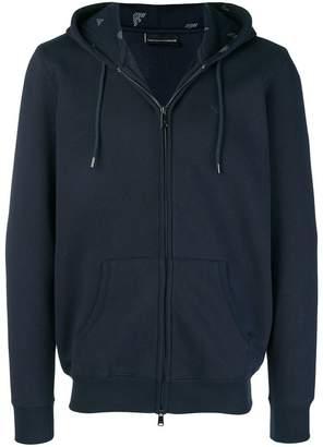 Emporio Armani logo trimmed hoodie