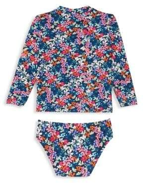 Shoshanna Little Girl's& Girl's Two-Piece Floral Rashguard& Swim Bottom Set