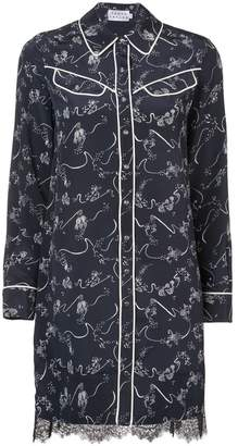Tanya Taylor embroidered shirt mini dress