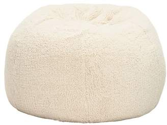 Pottery Barn Teen Sherpa Large Beanbag Slipcover, Ivory