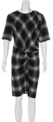 Isabel Marant Wool Plaid Dress