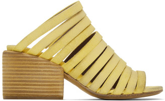 Eckhaus Latta Yellow Marsell Edition Suede Strappy Sandals