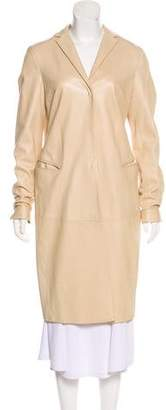 Burberry Leather Long Coat