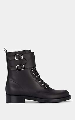 Gianvito Rossi Women's Lagarde Leather Lace-Up Ankle Boots - Black