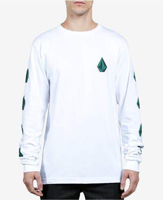 Volcom Men's Deadly Stones Long-Sleeve Logo T-Shirt