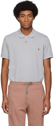 Paul Smith Grey Zebra Slim Polo