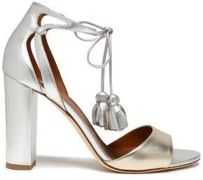 Malone Souliers Tasseled Two-Tone Metallic Leather Sandals