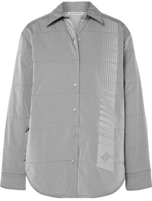 Alexander Wang Quilted Printed Padded Shell Jacket - Silver