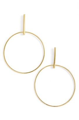 Women's Argento Vivo Front Hoop Earrings $58 thestylecure.com