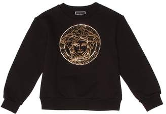Versace Kids Embellished cotton sweatshirt