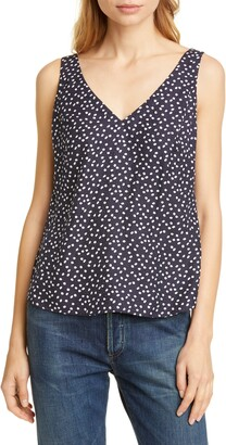 Rebecca Taylor Tailored by Silk Blend Tank Top