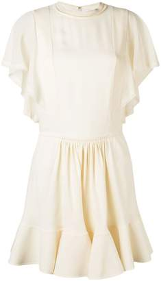 Chloé frilled flared dress