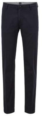 BOSS Hugo Cotton Chino Pant, Slim Fit Rice D 32R Dark Blue